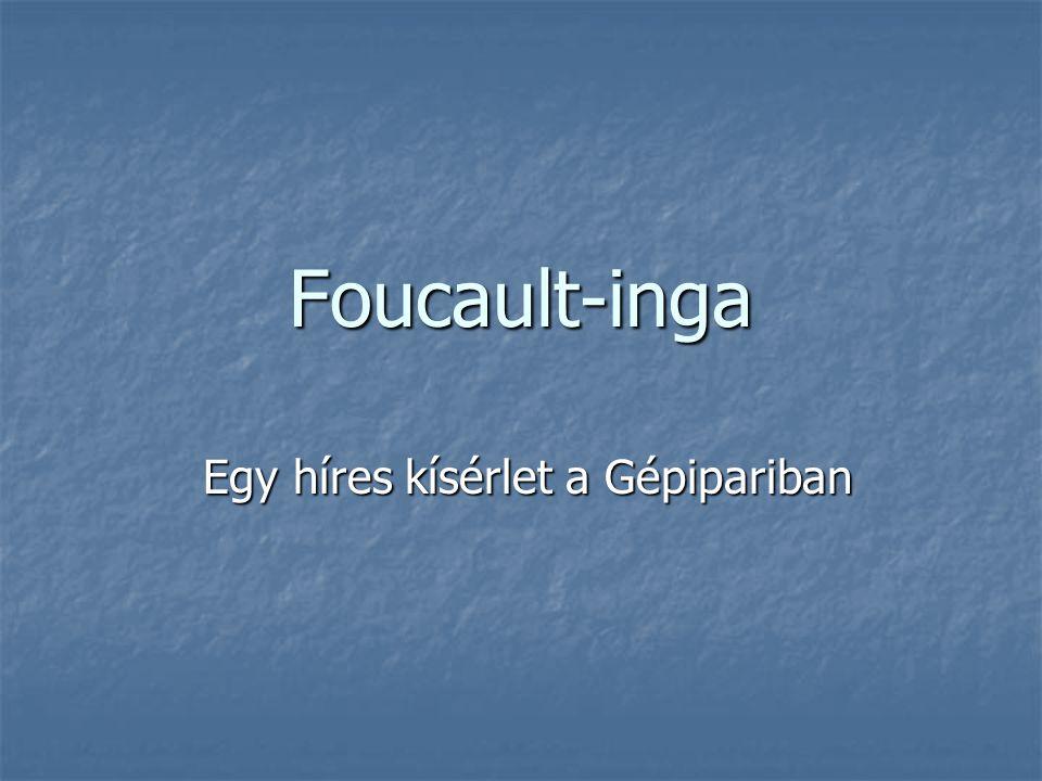 Foucault-inga Egy híres kísérlet a Gépipariban Egy híres kísérlet a Gépipariban