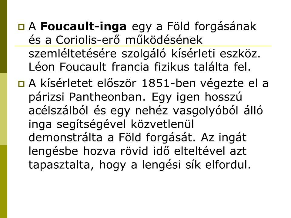  A Foucault-inga egy a Föld forgásának és a Coriolis-erő működésének szemléltetésére szolgáló kísérleti eszköz.