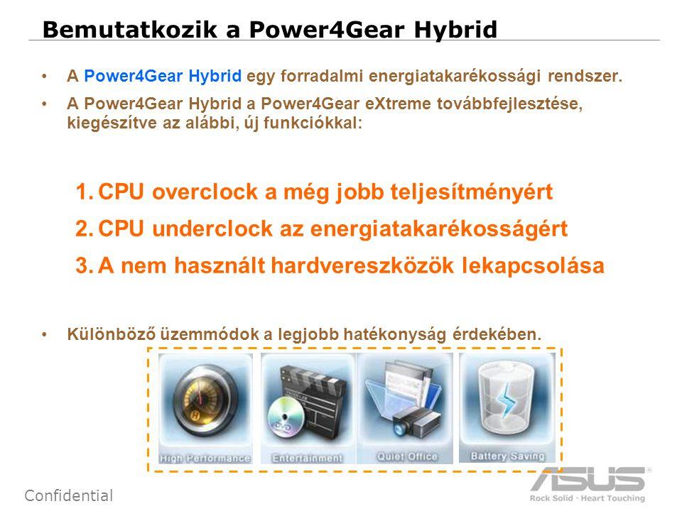 11 Confidential Bemutatkozik a Power4Gear Hybrid •A Power4Gear Hybrid egy forradalmi energiatakarékossági rendszer.