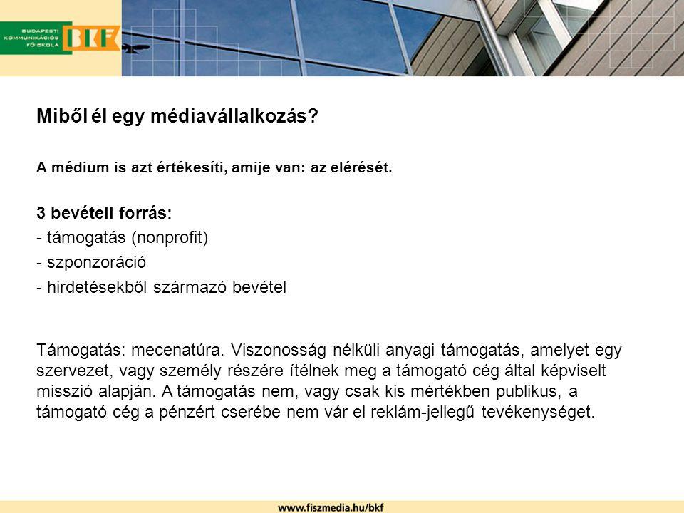 Sales house-ok A klasszikus sales house a médiumok külső partnere.
