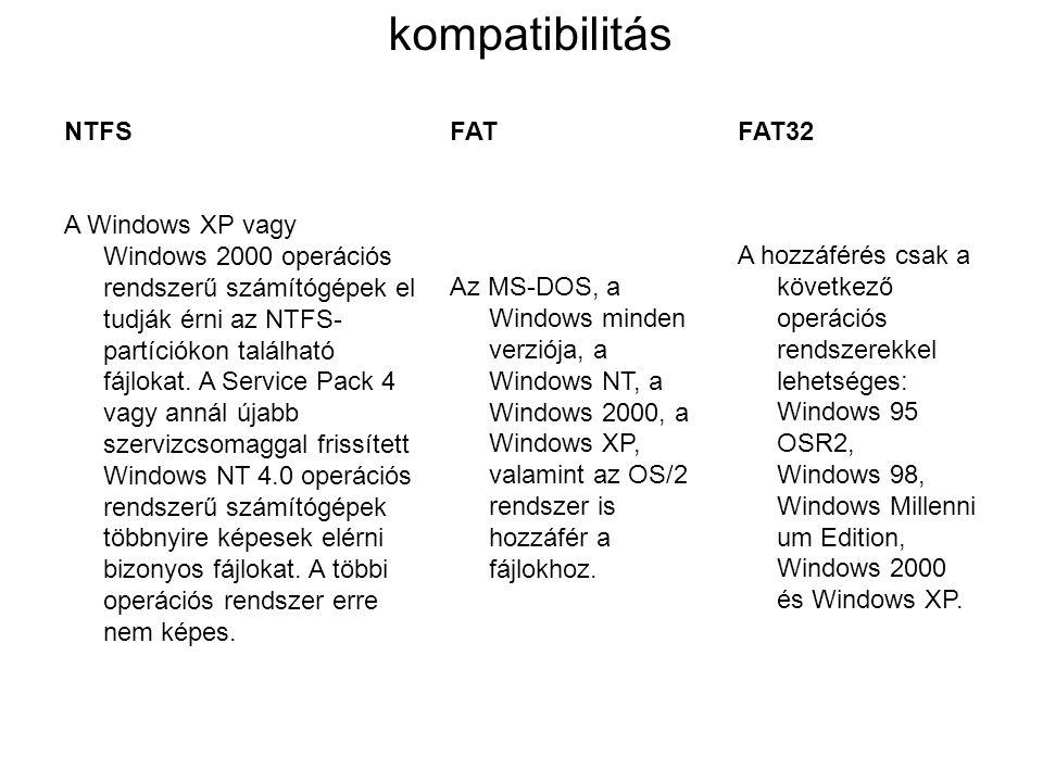 NTFSFATFAT32 Az ajánlott legkisebb kötetméret körülbelül 10 megabájt (MB).
