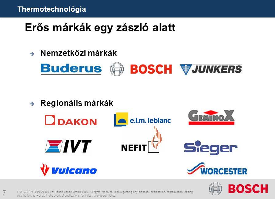 18 Lendítsük fel üzletünket a CRM-vel.RBHU/CRM | 22/05/2008 | © Robert Bosch GmbH 2008.