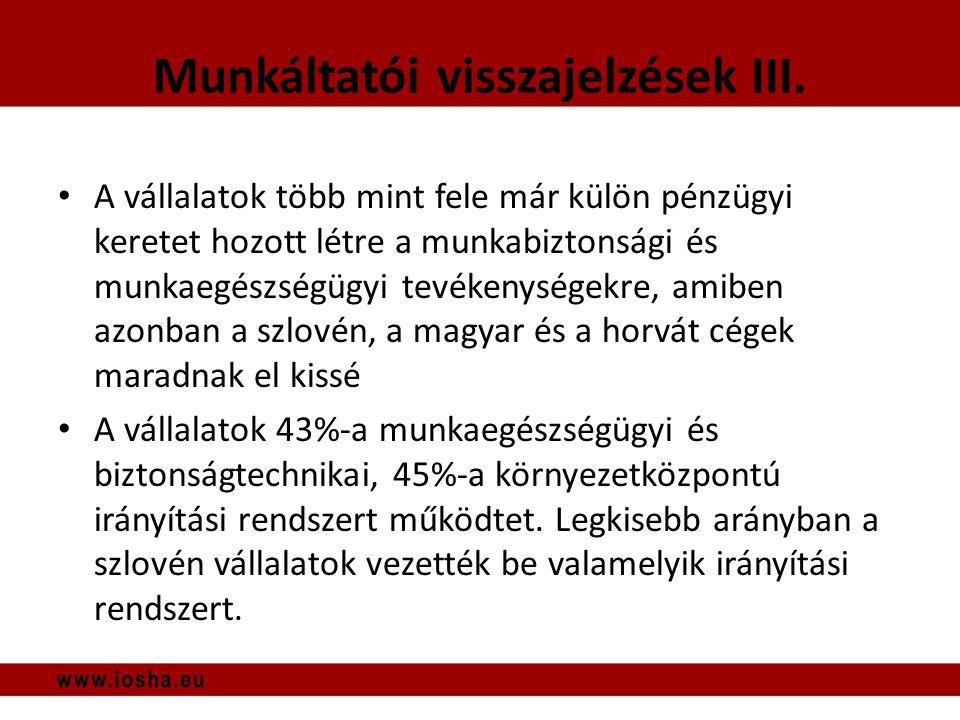 Munkáltatói visszajelzések III.