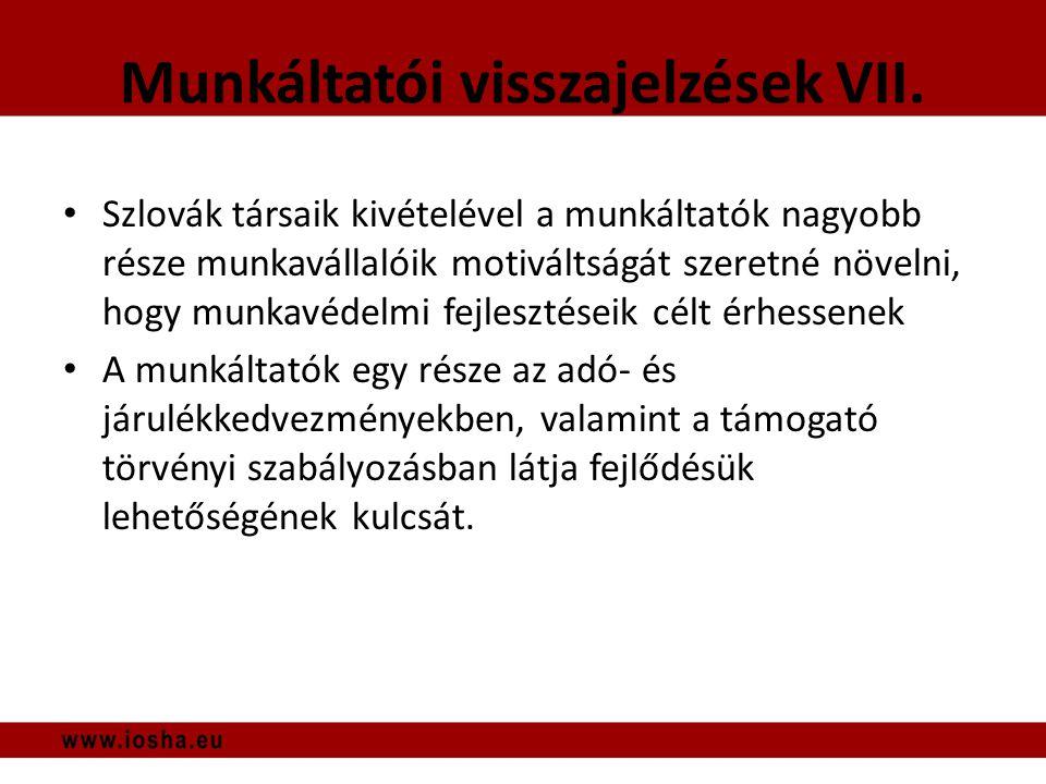 Munkáltatói visszajelzések VII.