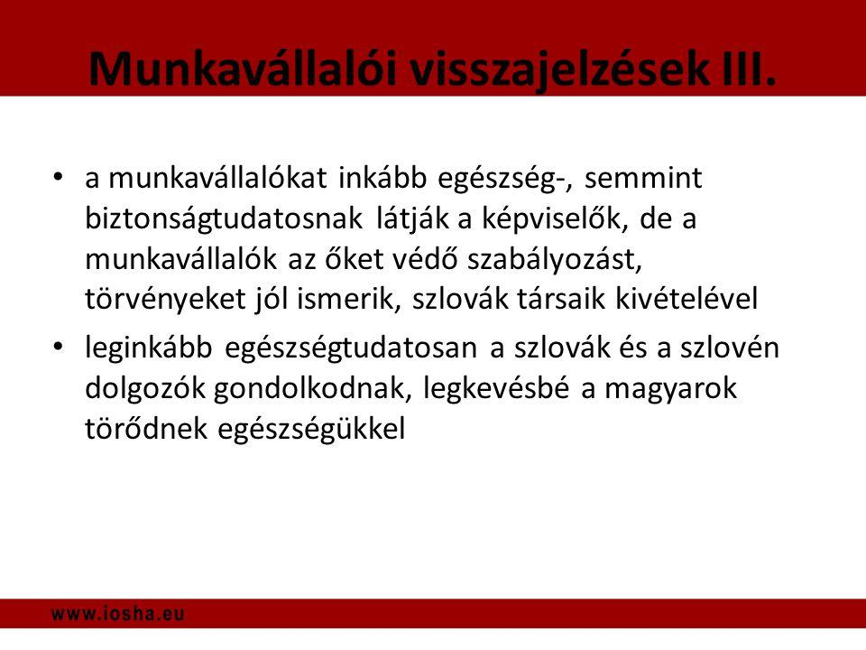 Munkavállalói visszajelzések III.
