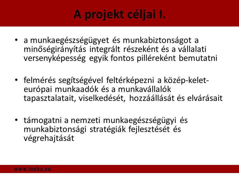 A projekt céljai I.