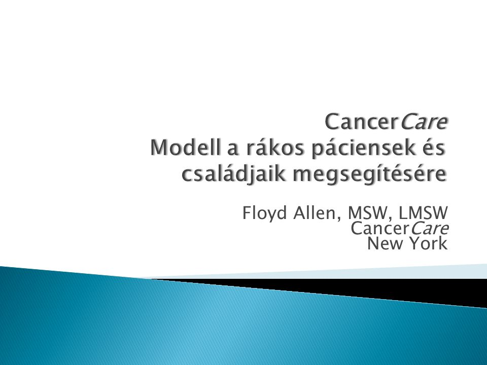  1944-ben alapították National Foundation for Care of Advanced Cancer Patients néven.