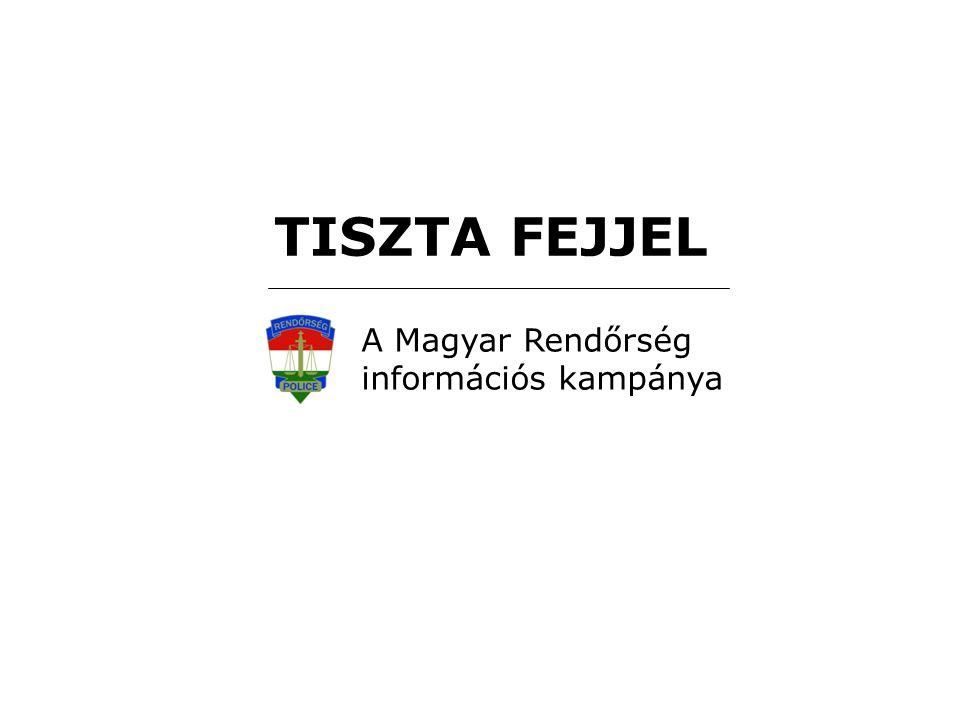 TISZTA FEJJEL A Magyar Rendőrség információs kampánya