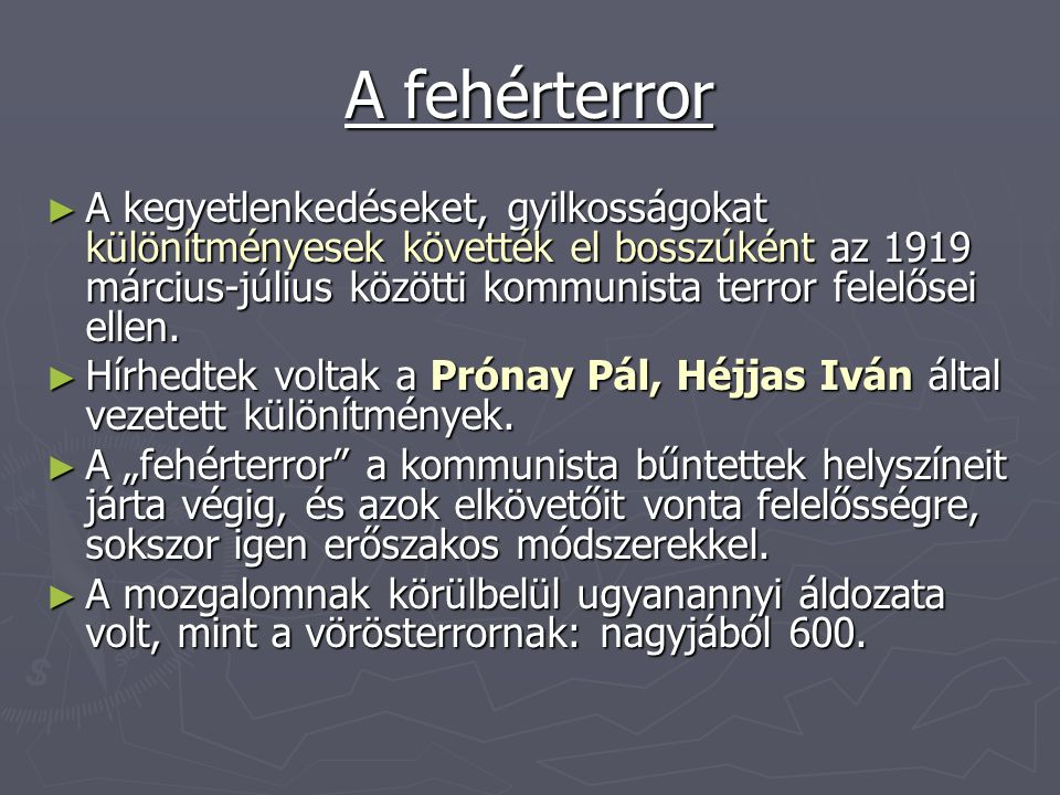 ► Trianoni béke – híradó (Justice for Hungary) http://www.youtube.com/watch?v=- 312xT_JUPQ&feature=related http://www.youtube.com/watch?v=- 312xT_JUPQ&feature=related ► József Attila: Nem, nem soha http://www.youtube.com/watch?v=fTC5piOoDuQ&translat ed=1 http://www.youtube.com/watch?v=fTC5piOoDuQ&translat ed=1 ► Trianon – angol nyelvű http://www.youtube.com/watch?v=_RJmobTI0hs&feature =related http://www.youtube.com/watch?v=_RJmobTI0hs&feature =related