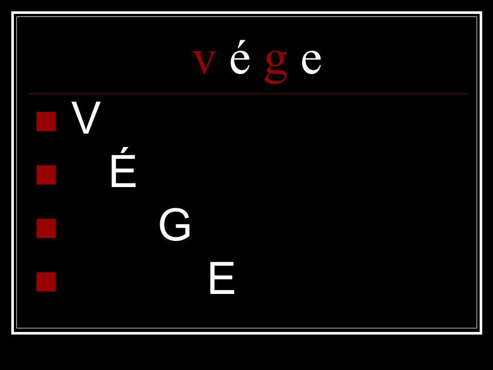 v é g e  V  É  G  E