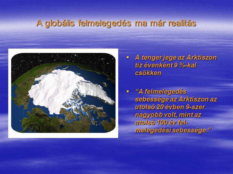"""A globális felmelegedés ma már realitás  A tenger jege az Arktiszon tíz évenként 9 %-kal csökken  """"A felmelegedés sebessége az Arktiszon az utolsó 2"""