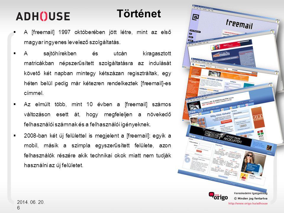 Történet  A [freemail] 1997 októberében jött létre, mint az első magyar ingyenes levelező szolgáltatás.