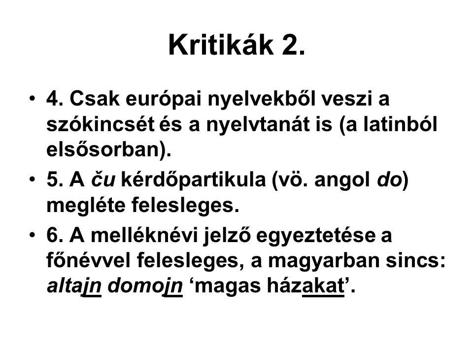Kritikák 2.•4.