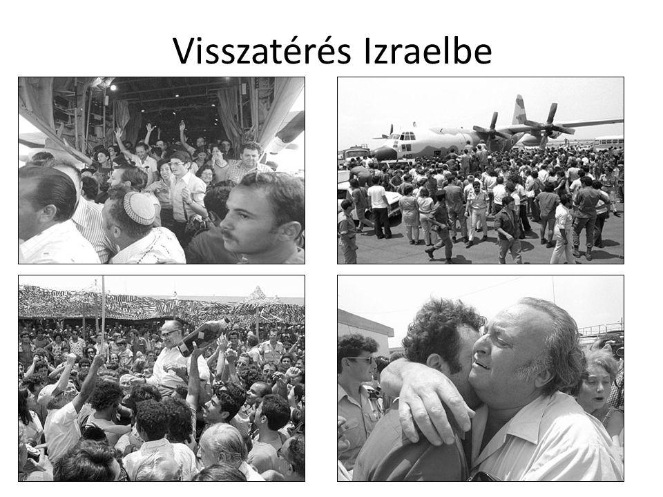 Visszatérés Izraelbe