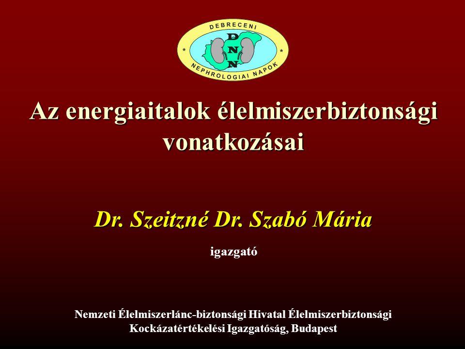 Az energiaitalok élelmiszerbiztonsági vonatkozásai Nemzeti Élelmiszerlánc-biztonsági Hivatal Élelmiszerbiztonsági Kockázatértékelési Igazgatóság, Buda