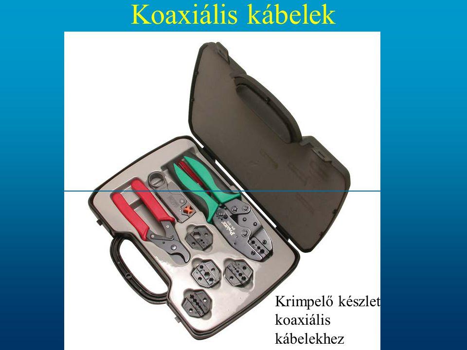 Koaxiális kábelek Krimpelő készlet koaxiális kábelekhez