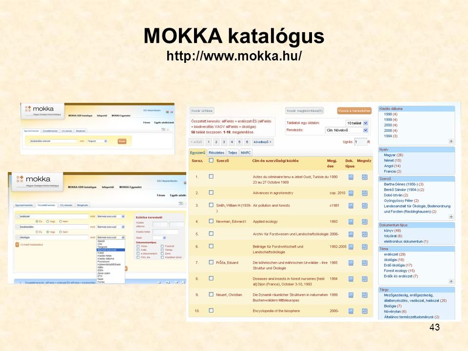43 MOKKA katalógus http://www.mokka.hu/