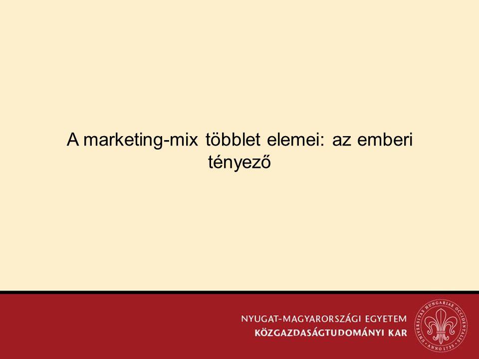 A marketing-mix többlet elemei: az emberi tényező