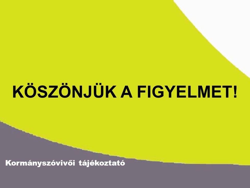 Kormányszóvivői tájékoztató KÖSZÖNJÜK A FIGYELMET!