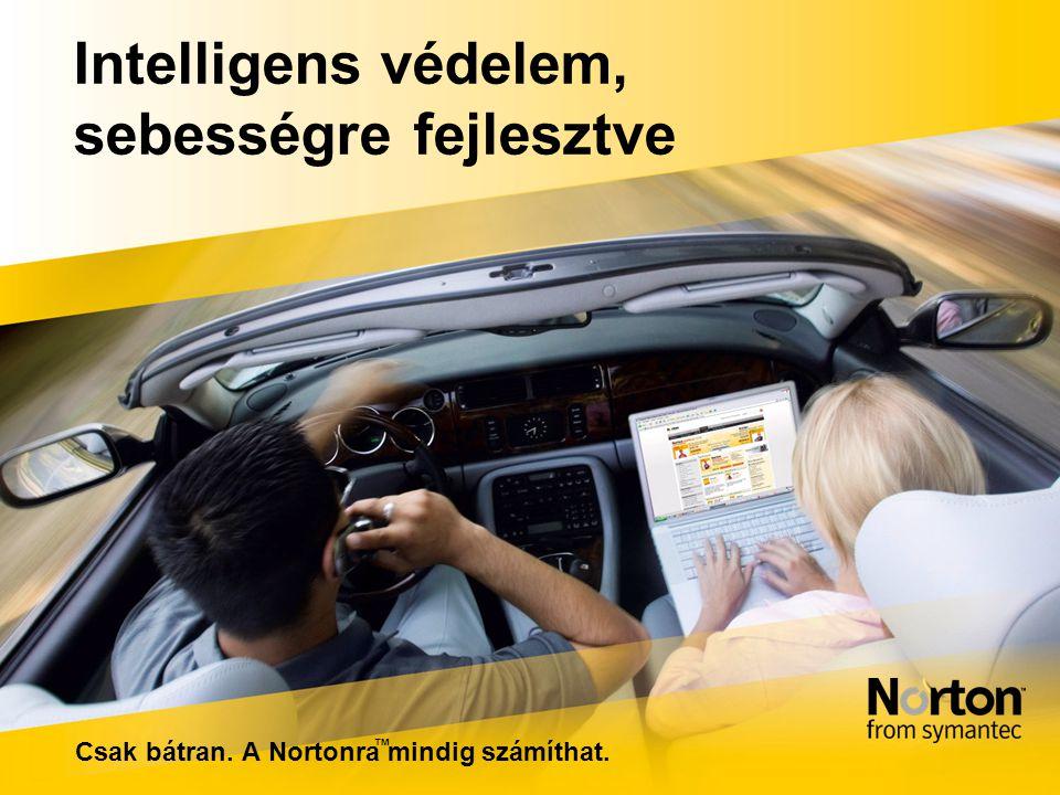 Intelligens védelem, sebességre fejlesztve Csak bátran. A Nortonra mindig számíthat. ™