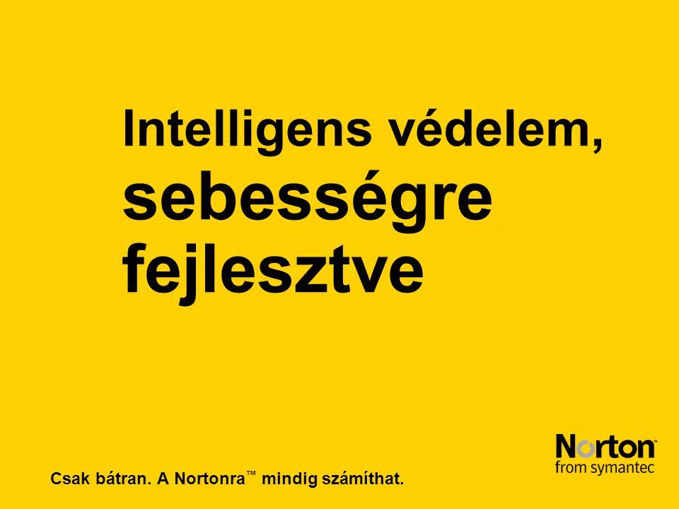 Csak bátran. A Nortonra ™ mindig számíthat. Intelligens védelem, sebességre fejlesztve