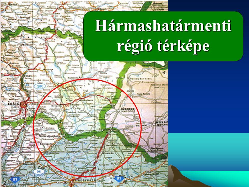 Hármashatármenti régió térképe