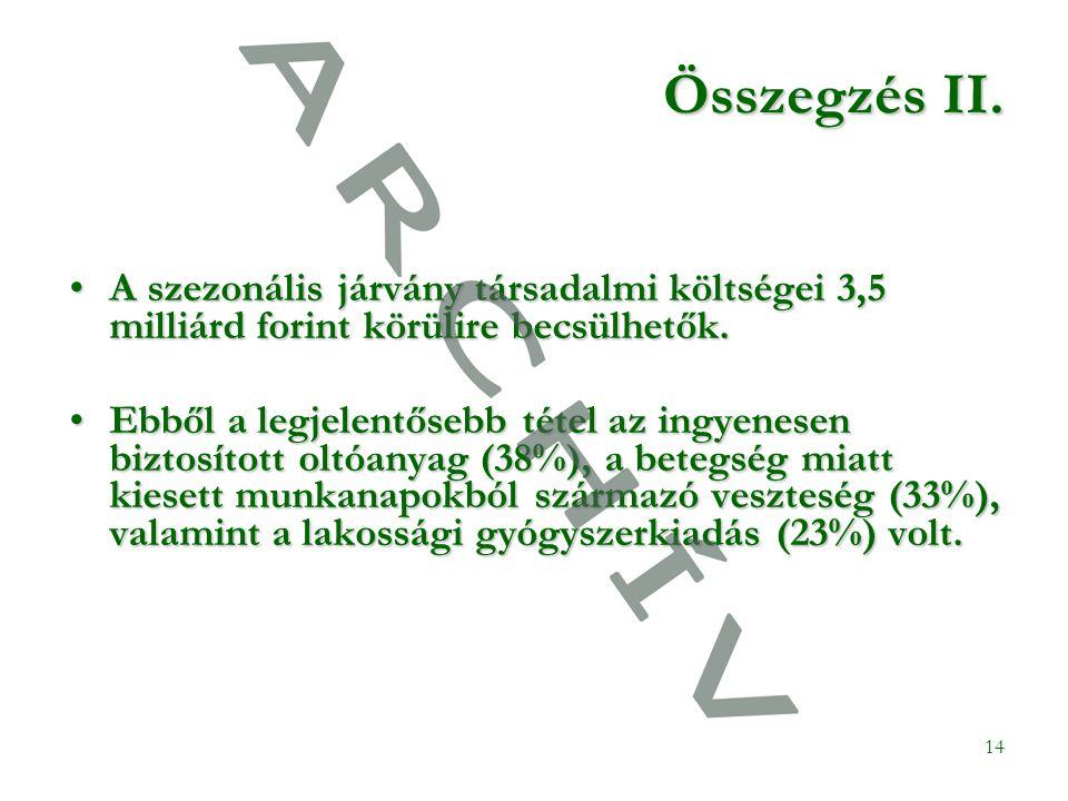 14 Összegzés II.