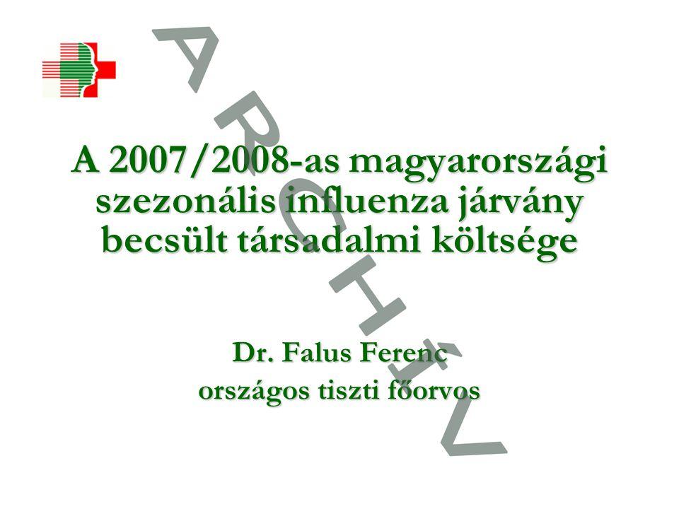 A 2007/2008-as magyarországi szezonális influenza járvány becsült társadalmi költsége Dr.