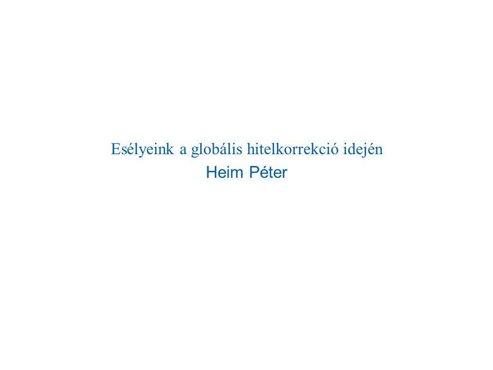 Esélyeink a globális hitelkorrekció idején Heim Péter