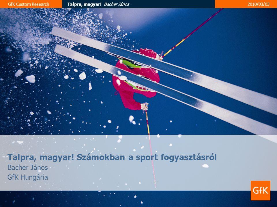 """GfK Custom ResearchTalpra, magyar! Bacher János2010/03/03 Fotel és """"B közép 3"""