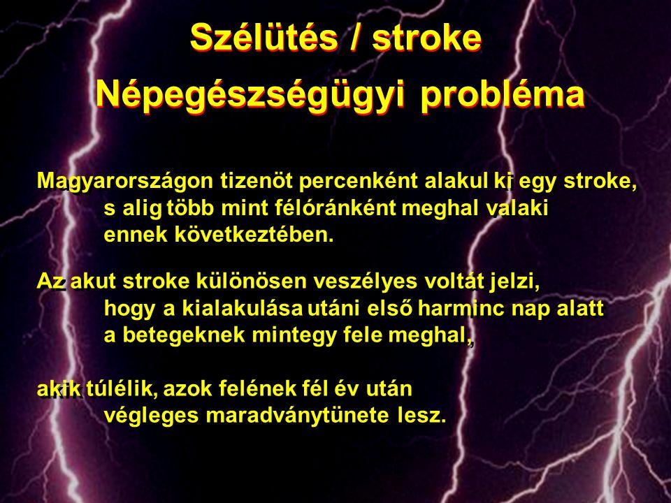 Az akut stroke különösen veszélyes voltát jelzi, hogy a kialakulása utáni első harminc nap alatt a betegeknek mintegy fele meghal, akik túlélik, azok