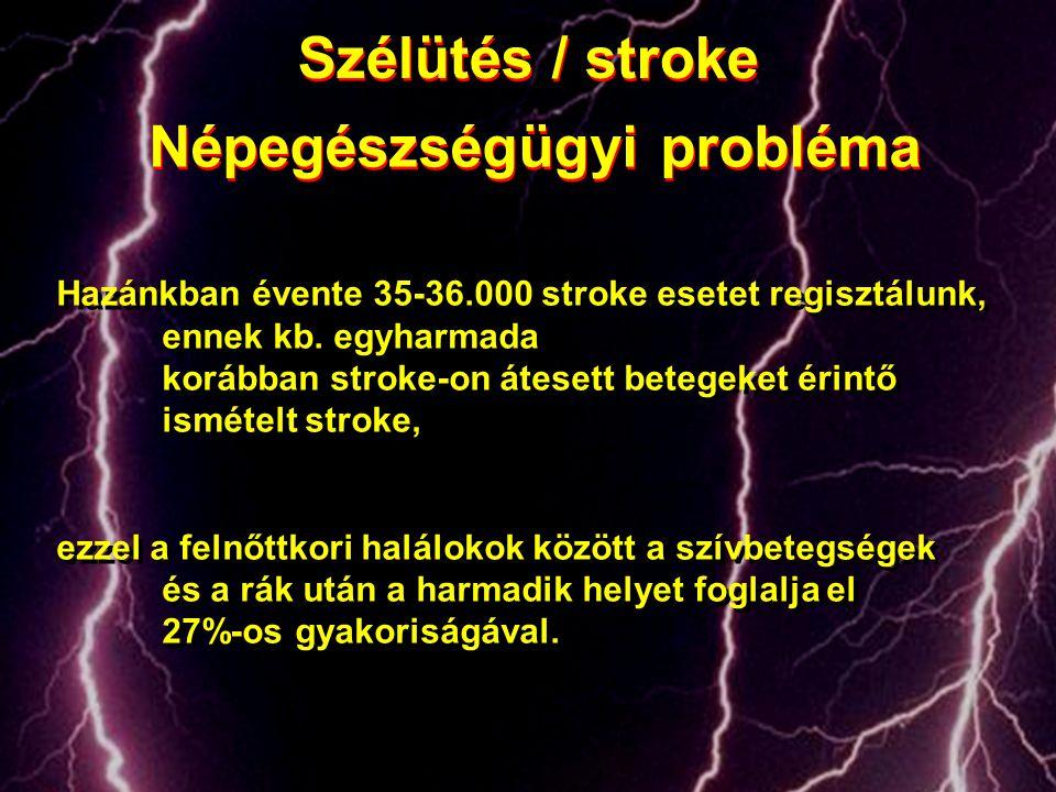 Hazánkban évente 35-36.000 stroke esetet regisztálunk, ennek kb. egyharmada korábban stroke-on átesett betegeket érintő ismételt stroke, ezzel a felnő