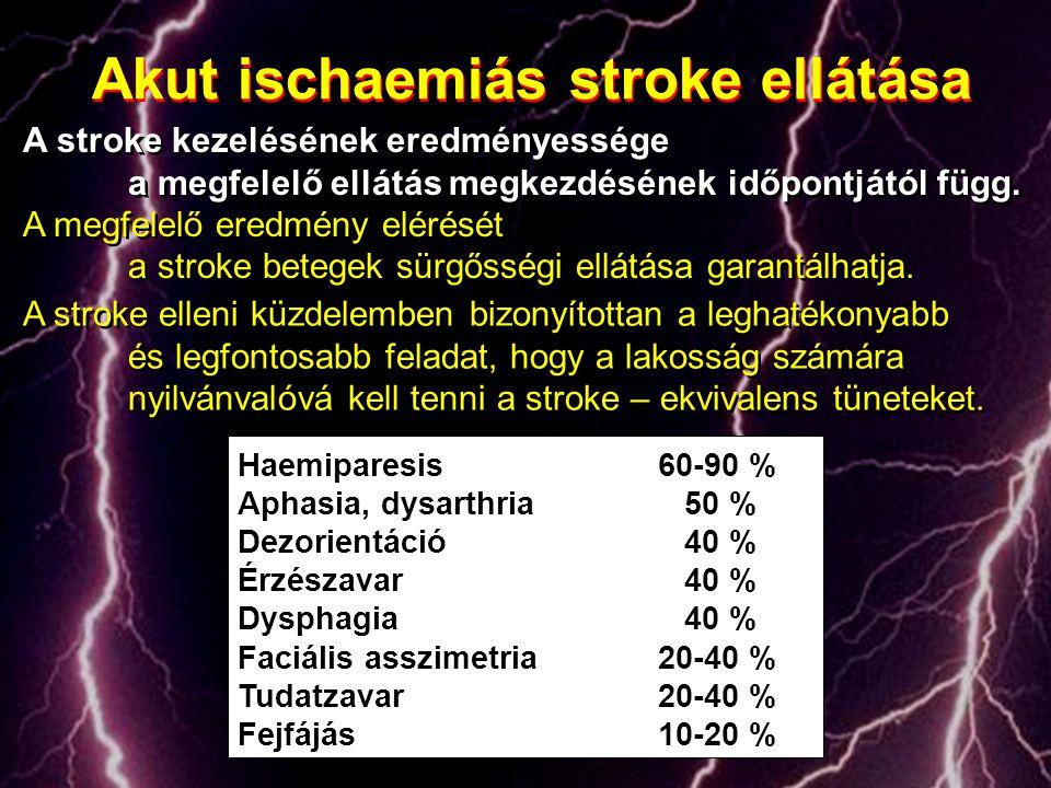 A stroke kezelésének eredményessége a megfelelő ellátás megkezdésének időpontjától függ. A megfelelő eredmény elérését a stroke betegek sürgősségi ell