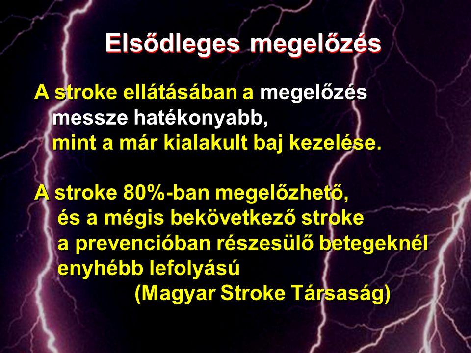 A stroke ellátásában a megelőzés messze hatékonyabb, mint a már kialakult baj kezelése. A stroke 80%-ban megelőzhető, és a mégis bekövetkező stroke a