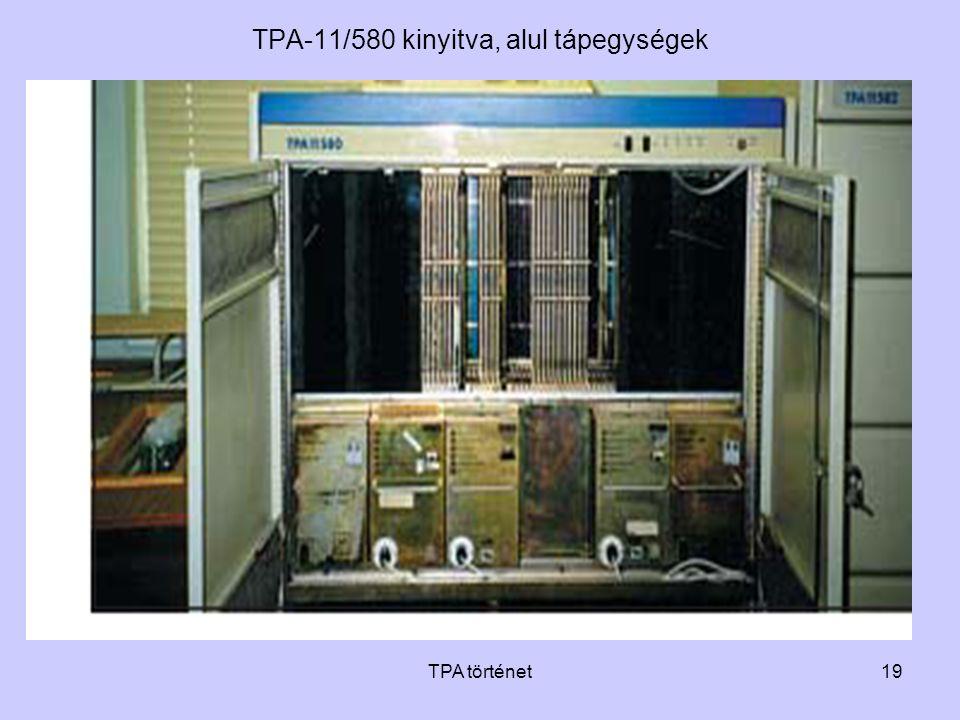 TPA történet19 TPA-11/580 kinyitva, alul tápegységek