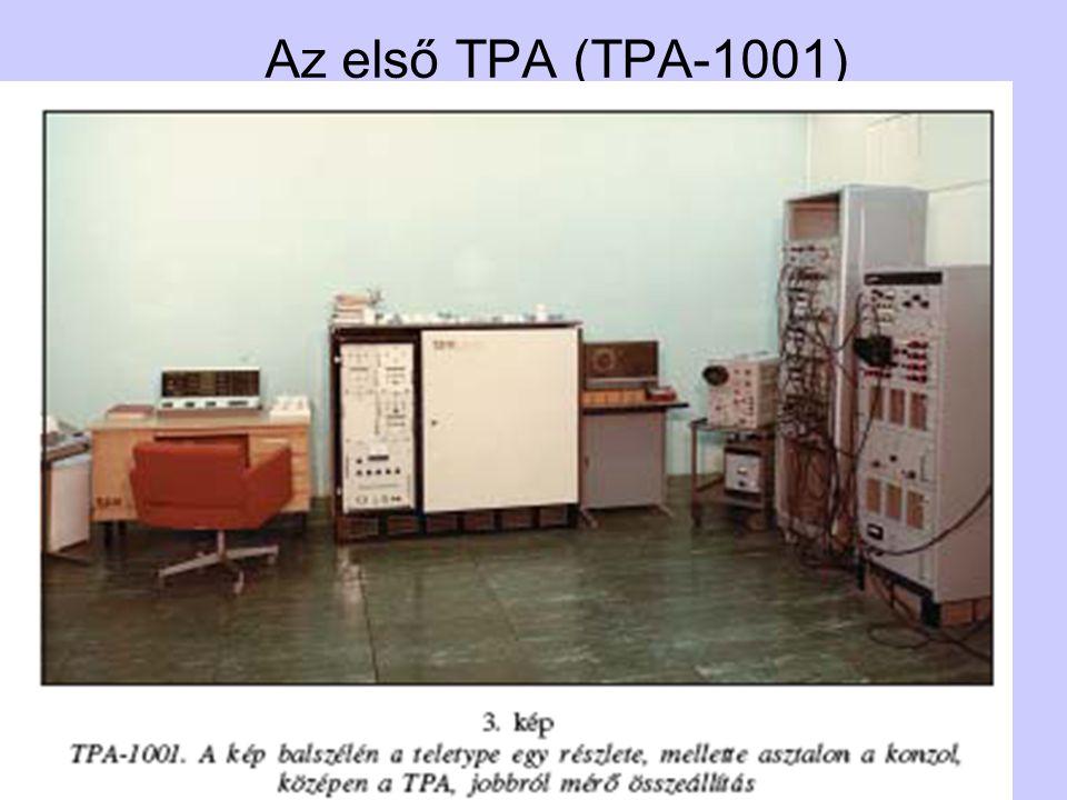 TPA történet20 Készült összesen 1683 gép •12-bites gép: 860 db, saját fejlesztés •16-bites gép: 90 db saját fejlesztés » 60 db másolt » 350 db részben saját » 100 db proc.+ saját •32-bites gép: 60 db másolt » 48 db részben másolt » 115 db proc.+ saját