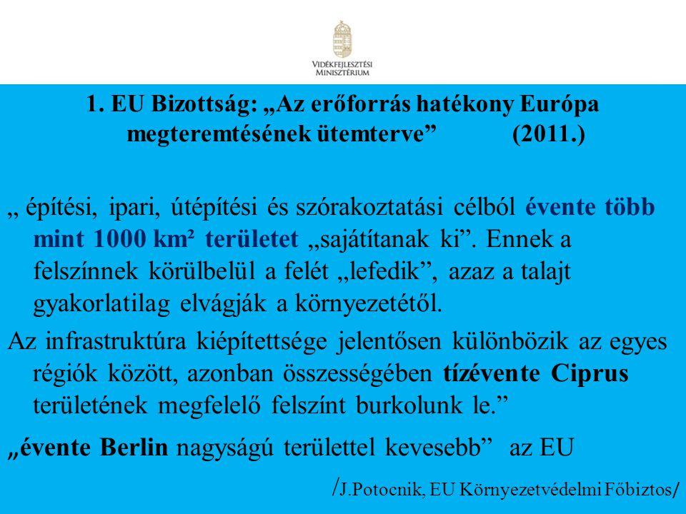"""15 1. EU Bizottság: """"Az erőforrás hatékony Európa megteremtésének ütemterve"""" (2011.) """" építési, ipari, útépítési és szórakoztatási célból évente több"""