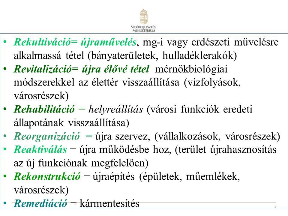 """14 Nemzeti Vidékstratégia 2012 – 2020 (""""a magyar vidék alkotmánya ) """"Hazánkban évente 5-7 ezer ha nagyságú termőföld kerül véglegesen mezőgazdasági művelés alól kivonásra beruházások megvalósítása miatt, miközben jelentős a fejlesztésre alkalmas, használaton kívüli vagy alul-használt területek száma."""