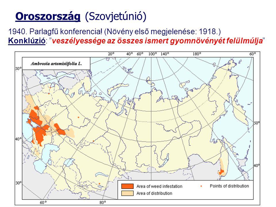Oroszország (Szovjetúnió) 1940. Parlagfű konferencia.