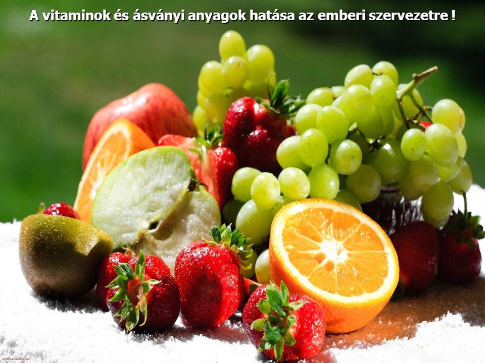 E vitamin - Tokoferol   Oxigénnel látja el a szervezetet, ezáltal fokozza annak állóképességét.