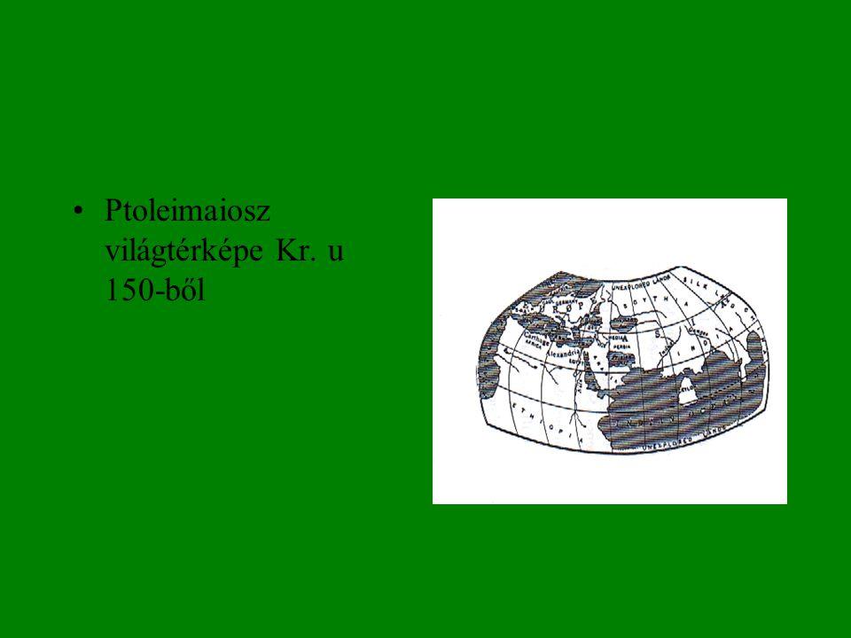 •Ptoleimaiosz világtérképe Kr. u 150-ből