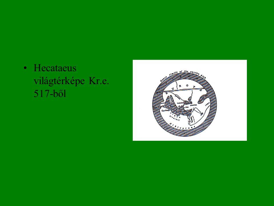 •Eratosthenes világtérképe Kr. e. 3. sz.