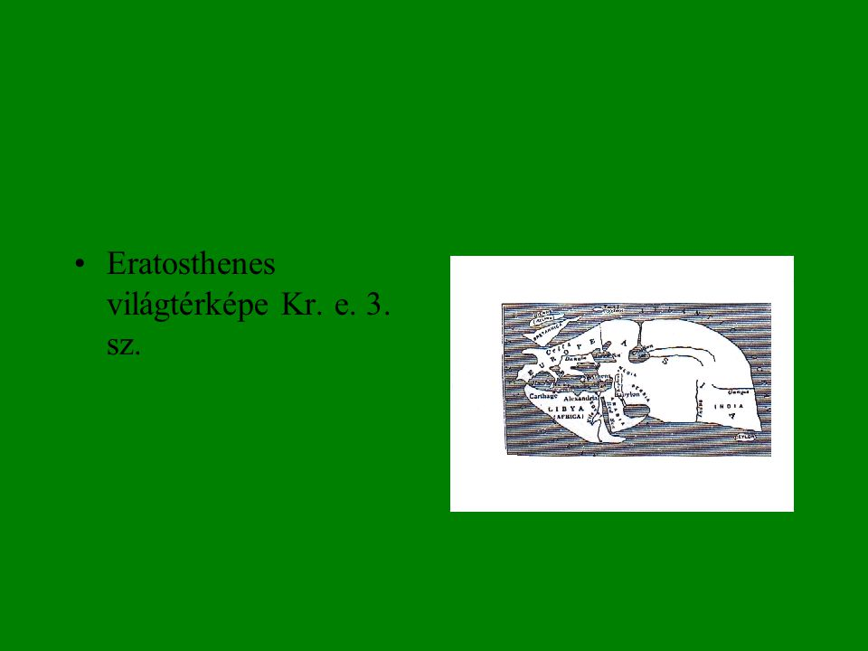 Csillagászattörténet matematika órán, földsugár-mérés •Eratosthenes megmérte, kiszámolta a Föld sugarát.