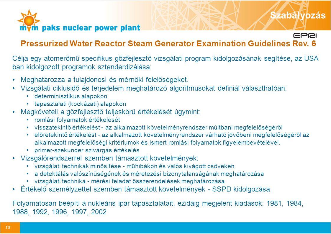 10 Pressurized Water Reactor Steam Generator Examination Guidelines Rev.