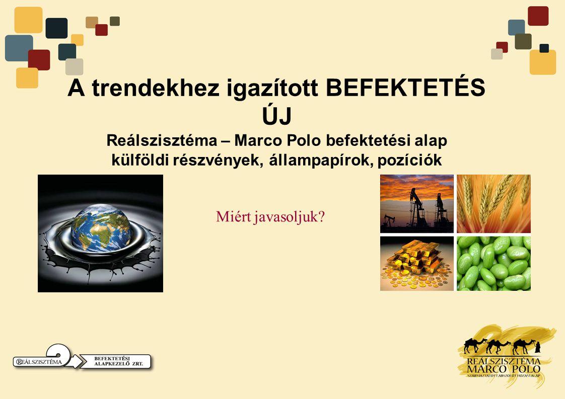 Marco Polo befektetési alap •1) HOZAM: Tervezett 15-20%/ év.