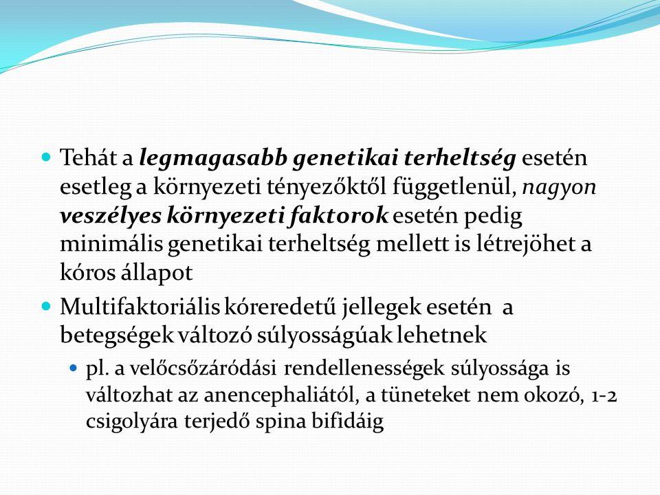  Tehát a legmagasabb genetikai terheltség esetén esetleg a környezeti tényezőktől függetlenül, nagyon veszélyes környezeti faktorok esetén pedig mini