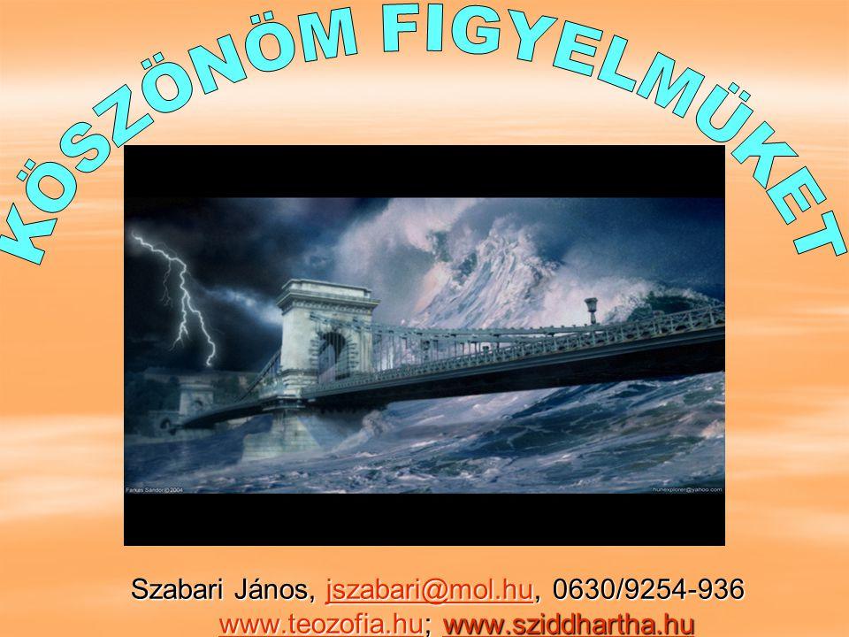 Szabari János, jszabari@mol.hu, 0630/9254-936 www.teozofia.hu; www.sziddhartha.hu jszabari@mol.huwww.teozofia.hujszabari@mol.huwww.teozofia.hu