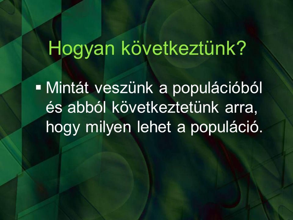 A hipotézisvizsgálat fő fogalmai az előző dia 2.kérdésével szemléltetve 1.