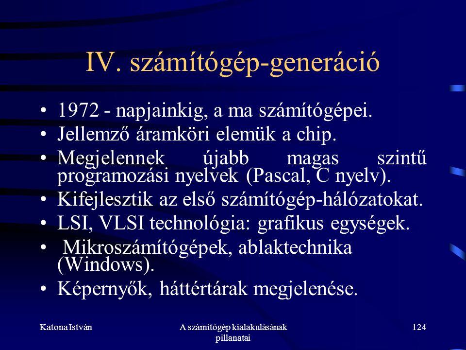 Katona IstvánA számítógép kialakulásának pillanatai 124 IV.