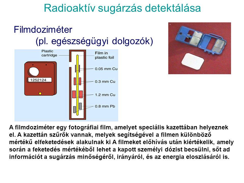 Háttérsugárzás Az átlagos természetes radioaktív háttérsugárzás kb. 1.8 mSv/év. Emberi tevékenységből, - döntő részben az orvosi röntgen átvilágítás é